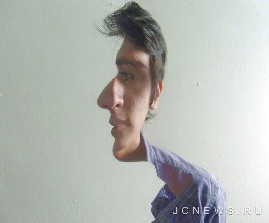 Фото с оптическим обманом