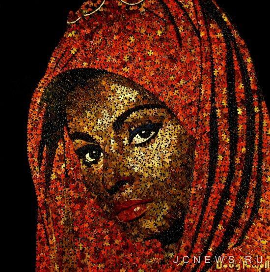 Даззл арт – портреты из паззлов