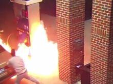 Американец поджег заправку, пытаясь убить паука (Видео)