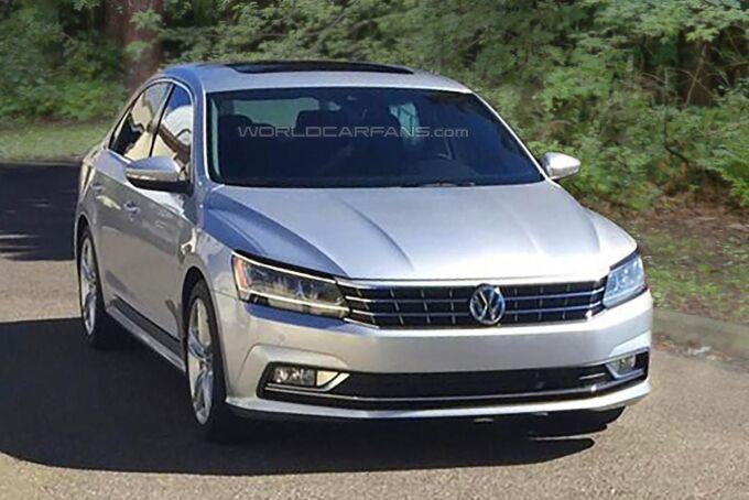 Американская версия обновленного Volkswagen Passat попалась без камуфляжа
