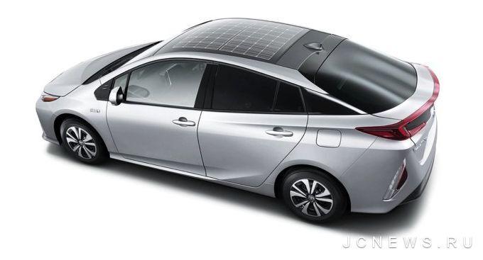 Panasonic раскрыл подробности о «солнечной» крыше Prius Prime