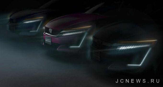 Honda публикует тизер электрического Clarity и гибридной версии