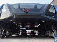 В Китае демонтируют трек для инновационного автобуса