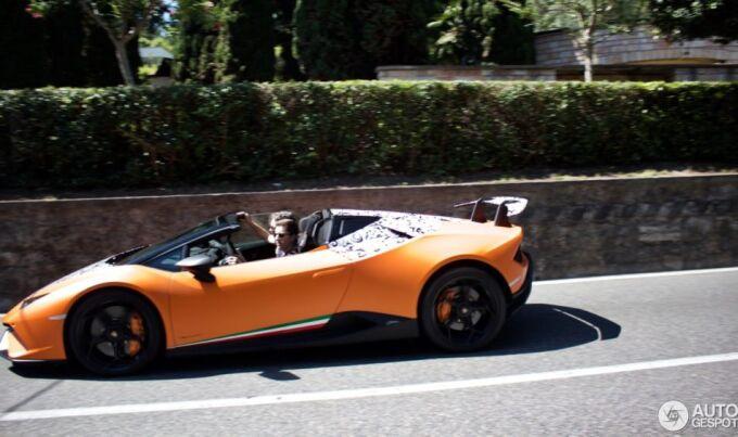 Lamborghini Huracan Performante Spyder заметили на тестировании