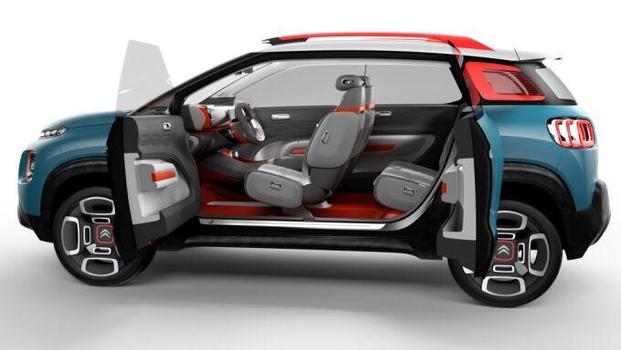 Citroen C3 Aircross показали в виде масштабной модели