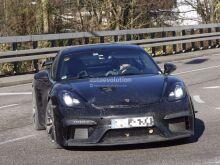 Porsche тестирует новый 718 Cayman GT4