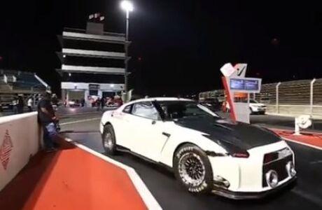 3000-сильный Nissan GT-R побил мировой рекорд на четверть мили