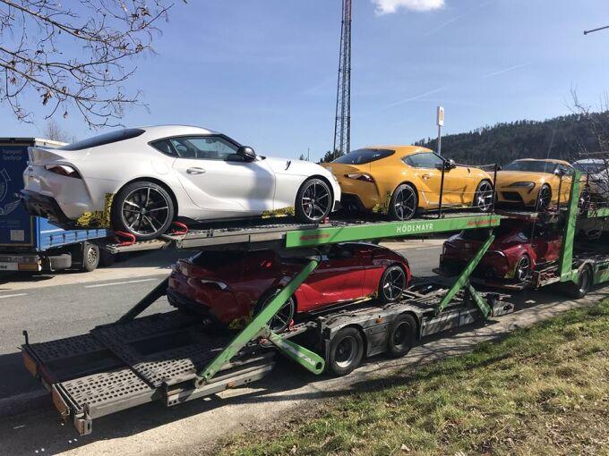 Toyota случайно «засветила» Supra в новых цветах