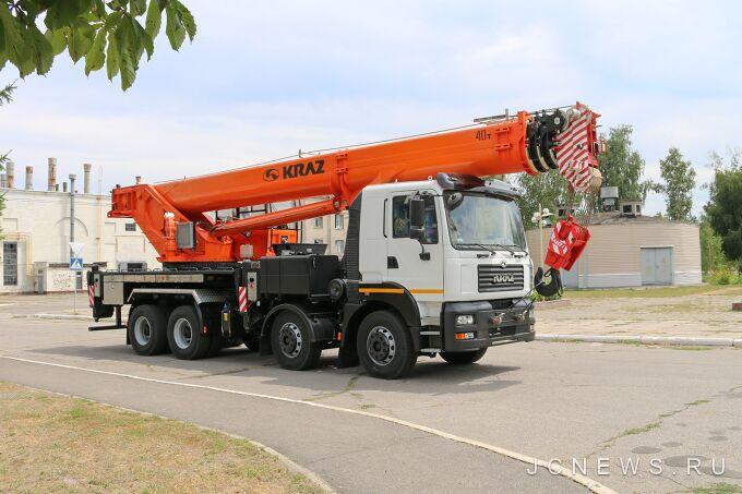Уникальный автокран на базе КрАЗ-7133 отгружен Метинвесту